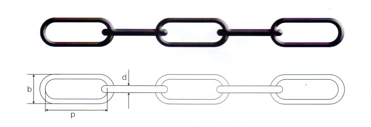 German Standard DIN763 Long Link Chain Thumb 1