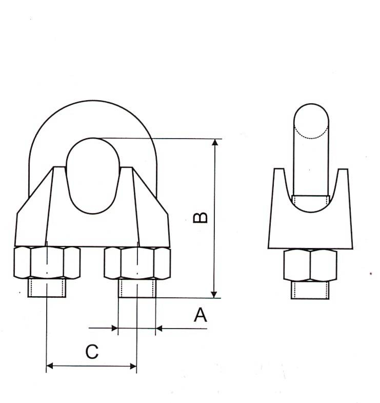 Malleable Wire Rope Clip DIN741 Thumb 1