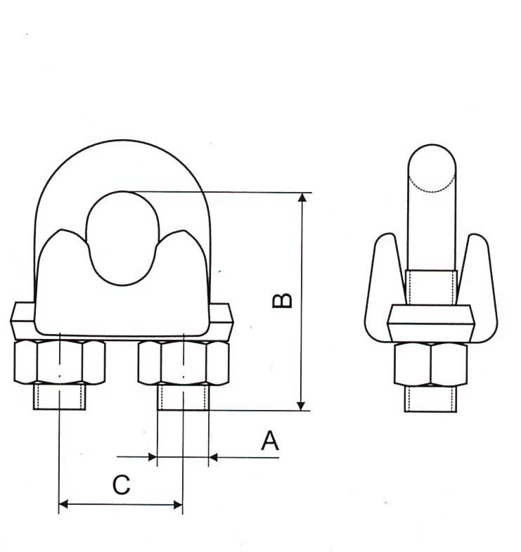 Malleable Wire Rope Clip Type A Thumb 1