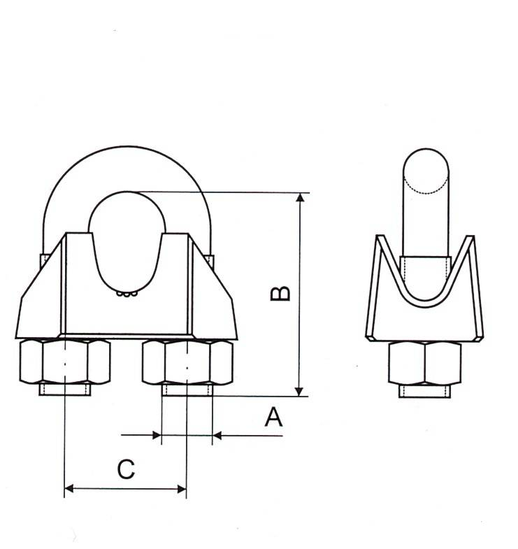 Malleable Wire Rope Clip U.S Type Thumb 1
