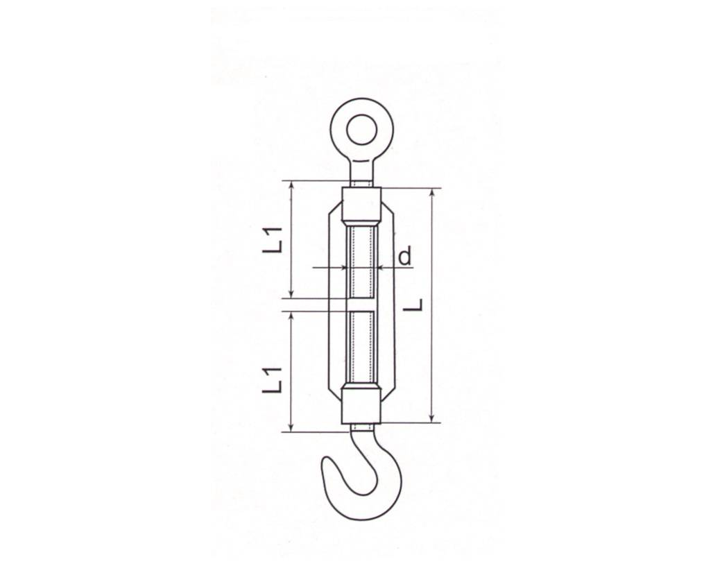 Stainless Steel Turnbuckle DIN1480 Thumb 1