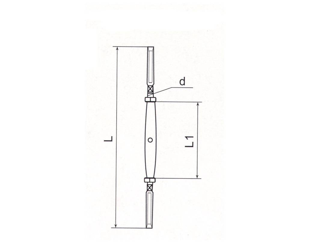 Stainless Steel Closed Body Turnbuckle With Two Terminals Thumb 1
