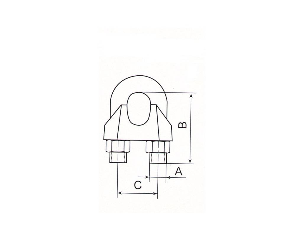 Stainless Steel Wire Rope Clips DIN741 Thumb 1
