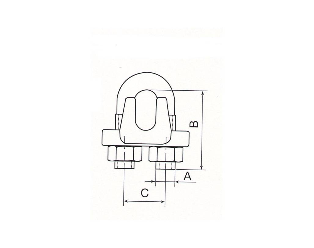 Stainless Steel U.S.Type Wire Rope Clip Thumb 1