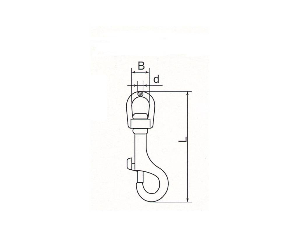 Stainless Steel Swivel Head Key Snap Thumb 1