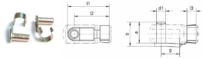 Fork Head Pin G751 For Fork Head DIN71752 Thumb 1