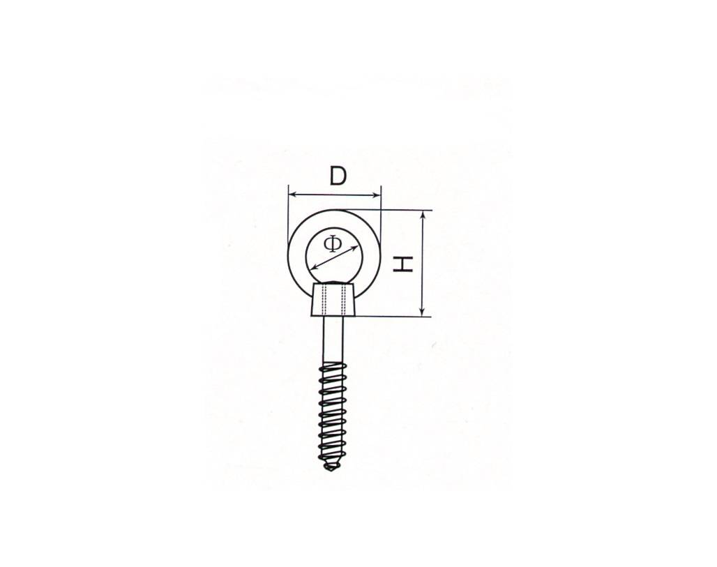 Stainless Steel Eye Nut With Screw Thumb 1