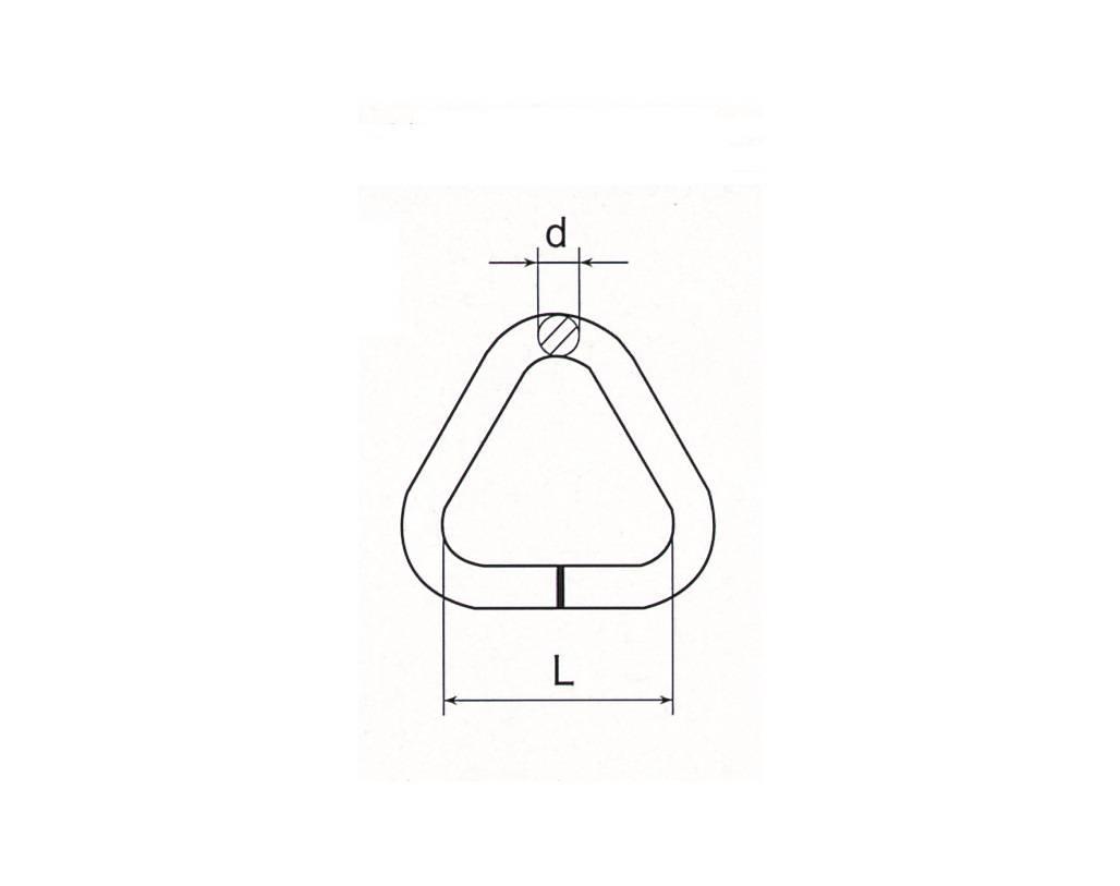 Stainless Steel Welded Triangular Ring Thumb 1