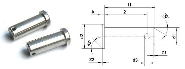 Clevis Pin DIN1434 Thumb 1